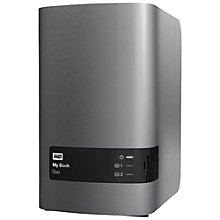Buy WD My Book Duo Desktop Hard Drive, USB 3.0, 4TB, Black Online at johnlewis.com