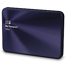 Buy WD My Passport Ultra Metal Edition Portable Hard Drive, USB 3.0, 2TB Online at johnlewis.com