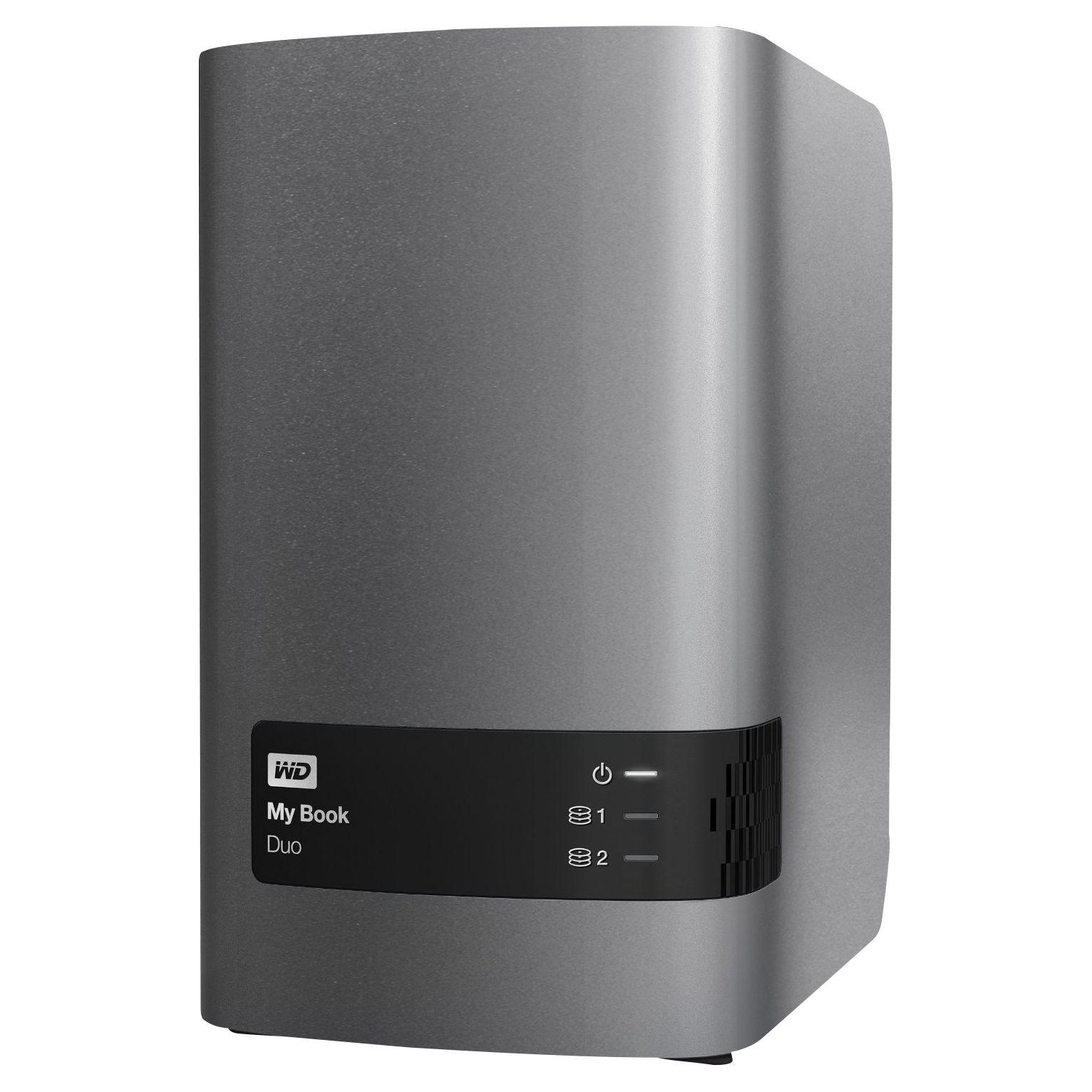 WD WD My Book Duo Desktop Hard Drive, USB 3.0, 6TB, Black