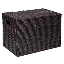 Buy John Lewis Rattan Storage Trunk, Dark Brown Online at johnlewis.com