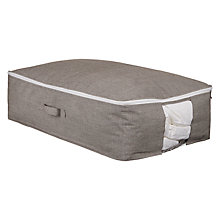 Buy John Lewis Chambray Underbed Storage Bag, Grey, Large Online at johnlewis.com