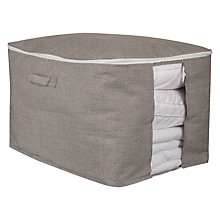 Buy John Lewis Chambray Underbed Storage Bag, Grey Online at johnlewis.com