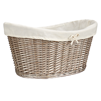 John Lewis Oval Willow Laundry Basket