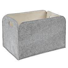 Buy House by John Lewis Felt Storage Box, Grey / Cream Online at johnlewis.com