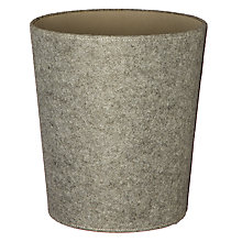 Buy House by John Lewis Felt Wastepaper Bin, Grey Online at johnlewis.com