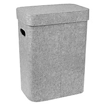 Buy House by John Lewis Felt Laundry Basket, Grey Online at johnlewis.com