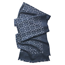Buy Coach Signature C Silk Blend Stole Scarf Online at johnlewis.com