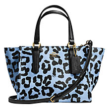 Buy Coach Crosby Leather Mini Carryall Bag, Ocelot Online at johnlewis.com