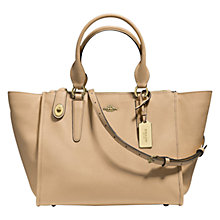 Buy Coach Crosby Leather Carryall Bag, Nude Online at johnlewis.com