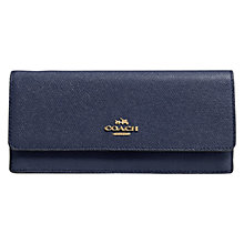 Buy Coach Leather Embossed Soft Wallet Online at johnlewis.com
