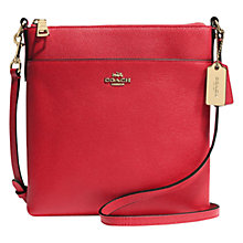 Buy Coach Textured Leather Swingpack Across Body Bag Online at johnlewis.com