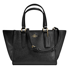 Buy Coach Crosby Mini Leather Carryall Bag, Black Online at johnlewis.com
