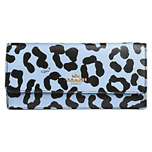 Buy Coach Leather Embossed Soft Wallet, Leopard Blue Online at johnlewis.com