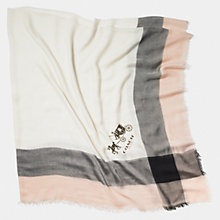 Buy Coach Windowpane Challis Scarf, Multi Online at johnlewis.com