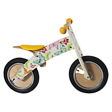 Buy Kiddimoto Kurve Balance Bike, Butterflies Online at johnlewis.com