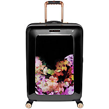 Buy Ted Baker Cascading Floral 4-Wheel 69.5cm Medium Suitcase, Black Online at johnlewis.com