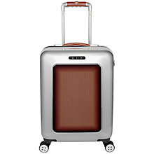 Buy Ted Baker Herringbone 4-Wheel 54cm Small Cabin Suitcase, Silver Online at johnlewis.com