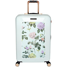 Buy Ted Baker Distinguished 4-Wheel 69.5cm Medium Suitcase, Green Online at johnlewis.com