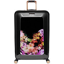Buy Ted Baker Cascading Floral 4-Wheel Large Suitcase, Black Online at johnlewis.com