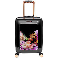 Buy Ted Baker Cascading Floral 4-Wheel 54cm Cabin Suitcase, Black Online at johnlewis.com