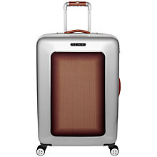 Buy Ted Baker Herringbone 4-Wheel 69.5cm Medium Suitcase, Silver Online at johnlewis.com