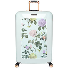 Buy Ted Baker Distinguished 4-Wheel 79.5cm Large Suitcase, Green Online at johnlewis.com