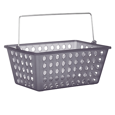 John lewis frosted bathroom storage basket for Bathroom storage ideas john lewis