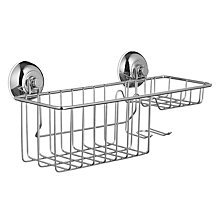 Buy John Lewis Multi Function Bathroom Suction Storage Basket Online at johnlewis.com