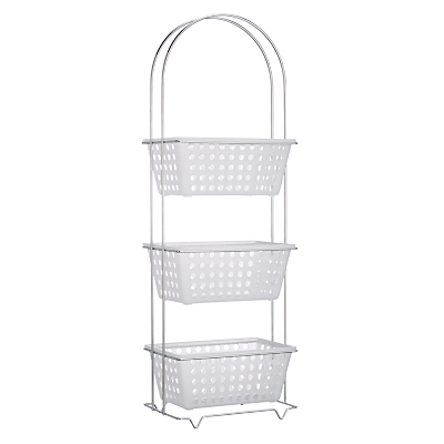John Lewis 3 Tier Bathroom Basket Storage Unit