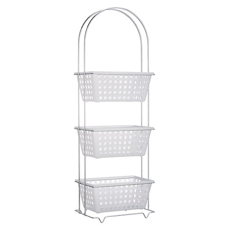 Buy john lewis 3 tier bathroom basket storage unit john for Bathroom storage ideas john lewis