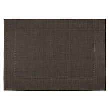 Buy John Lewis Polypropylene Border Placemat, Black Online at johnlewis.com