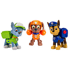 Buy Paw Patrol Action Pack Pup Set: Chase, Zuma, Rocky Online at johnlewis.com