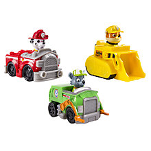 Buy Paw Patrol Racers Team Pack: Rubble, Marshall, Rocky Online at johnlewis.com