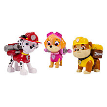 Buy Paw Patrol Action Pack Pup Set: Marshall, Skye, Rubble Online at johnlewis.com
