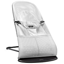 Buy BabyBjörn Mesh Bouncer, White Online at johnlewis.com