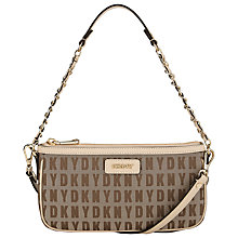 Buy DKNY HQ Print Bryant Small Leather Across Body Bag Online at johnlewis.com