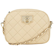 Buy DKNY Gansevort Quilted Nappa Leather Shoulder Bag, Sand Online at johnlewis.com