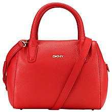 Buy DKNY Tribeca Leather Zipped Across Body Bag, Red Online at johnlewis.com