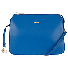Buy DKNY Greenwich Leather Across Body Bag, Blue Online at johnlewis.com