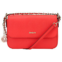 Buy DKNY Bryant Park Leather Across Body Bag, Coral Online at johnlewis.com
