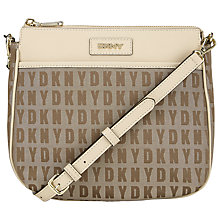 Buy DKNY HQ Print Bryant Top Zip Leather Across Body Bag Online at johnlewis.com