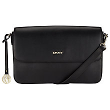 Buy DKNY Greenwich Leather Medium Across Body Bag, Black Online at johnlewis.com