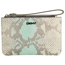 Buy DKNY Printed Python Wristlet Purse, Aqua Online at johnlewis.com