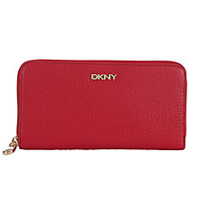 Buy DKNY Tribeca Leather Large Zip Around Purse Online at johnlewis.com