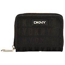 Buy DKNY HQ Print Saffiano Leather Carry All Purse, Black Online at johnlewis.com