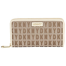Buy DKNY HQ Print Saffiano Leather Large Zip Purse Online at johnlewis.com