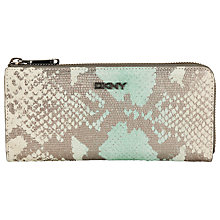 Buy DKNY Python Half Zip Purse, Aqua Online at johnlewis.com