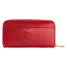 Buy Aspinal of London Leather Continental Clutch Wallet, Berry Online at johnlewis.com