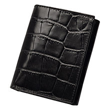Buy Aspinal of London Leather Trifold Wallet, Black Online at johnlewis.com