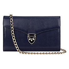 Buy Aspinal of London Manhattan Leather Clutch Bag, Navy Online at johnlewis.com